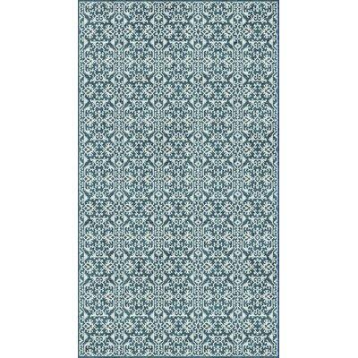 McClusky Turquoise/Cream Area Rug Rug Size: 51 x 76