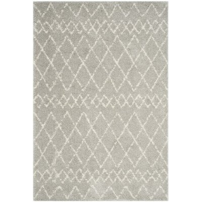 Tourville Light Gray/Cream Area Rug Rug Size: Rectangle 4 x 6