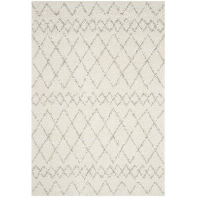 Tourville Cream/Light Gray Area Rug Rug Size: Rectangle 9 x 12