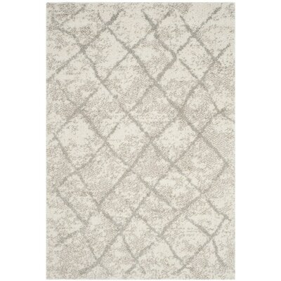 Zettie Cream/Light Gray Area Rug Rug Size: Rectangle 4 x 6