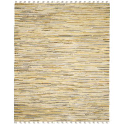 Jaylon Hand-Woven Gold Area Rug Rug Size: Square 6