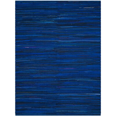 Sanabria Hand-Woven Blue Area Rug Rug Size: Rectangle 4 x 6