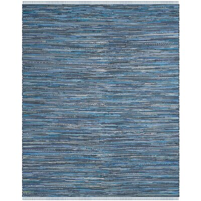 Naarden Hand-Woven Blue Area Rug Rug Size: Rectangle 4 x 6