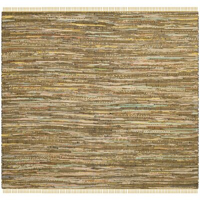 Nessadiou Hand-Woven Beige Area Rug Rug Size: Square 6'