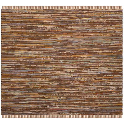 Apeldoorn Hand-Woven Brown Area Rug Rug Size: Square 6