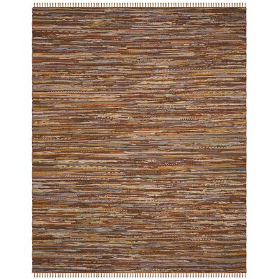 Apeldoorn Hand-Woven Brown Area Rug Rug Size: Rectangle 8 x 10