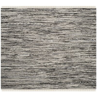 Coffey Hand-Woven Gray Area Rug Rug Size: Square 6