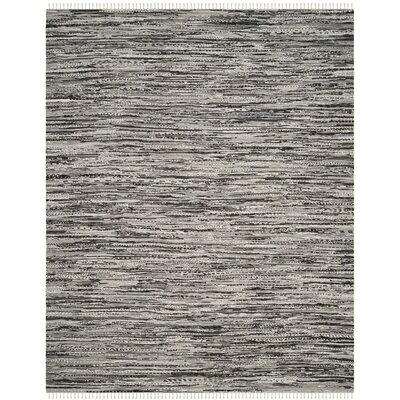 Coffey Hand-Woven Gray Area Rug Rug Size: 5 x 8