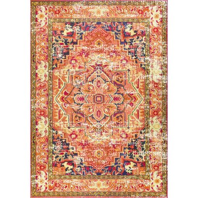 Mackenzie Orange Area Rug Rug Size: Rectangle 53 x 77