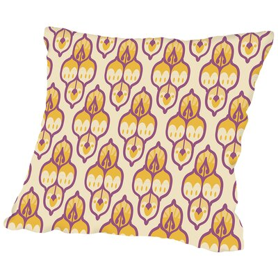 Amann Turkish Cara Kozik Throw Pillow Size: 18 H x 18 W x 2 D, Color: Yellow/Purple