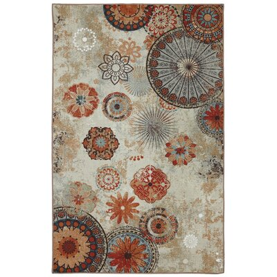 Ardsley Brown/Orange Area Rug