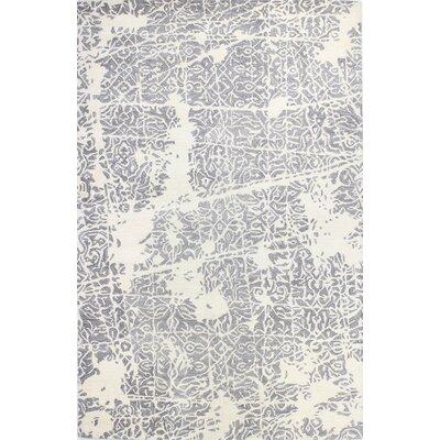 Arthurs Hand-Tufted Ivory/Grey Area Rug Size: 39 x 59