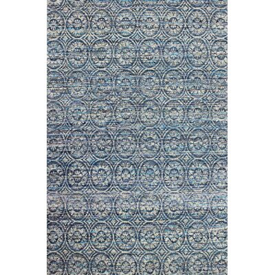 Amira Hand-Woven Blue Area Rug Rug Size: 59 x 89