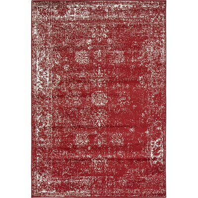 Ford Burgundy Area Rug Rug Size: 5 x 8