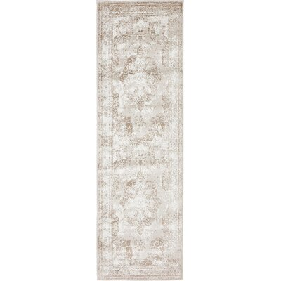 Ford Beige Area Rug Rug Size: 4 x 6