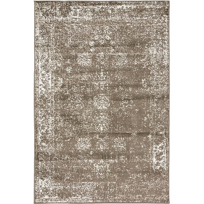 Brandt Brown Area Rug Rug Size: 8 x 10