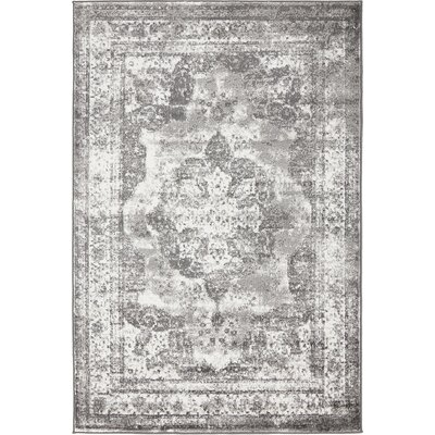 Brandt Gray Area Rug Rug Size: Rectangle 4 x 6