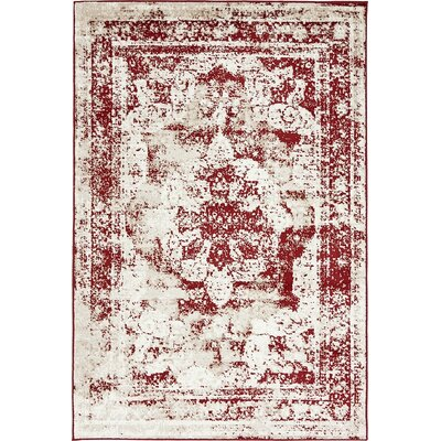 Brandt Red Area Rug Rug Size: 4 x 6