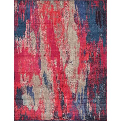 Fujii Red Area Rug Rug Size: Rectangle 33 x 53