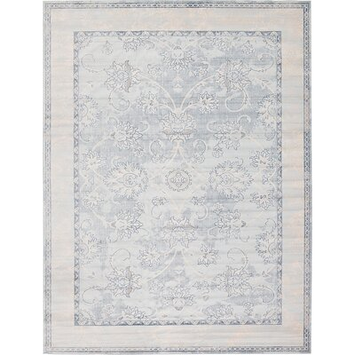Ouellette Light Blue Area Rug Rug Size: 5 x 8