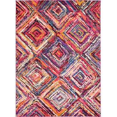 Roshan Pink/Purple Area Rug Rug Size: 8 x 11
