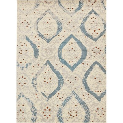 Charleena Cream Area Rug Rug Size: Rectangle 8 x 10 9