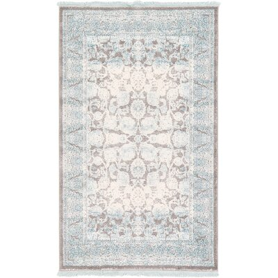 Wilton Light Gray Area Rug Rug Size: 4 x 6