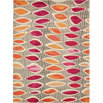 Fujii Light Brown Area Rug Rug Size: 7 x 10