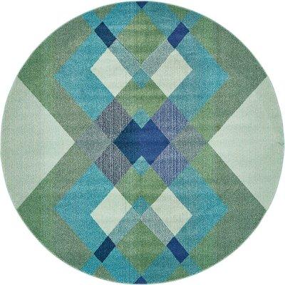 Fujii Green Area Rug Rug Size: Rectangle 3'3