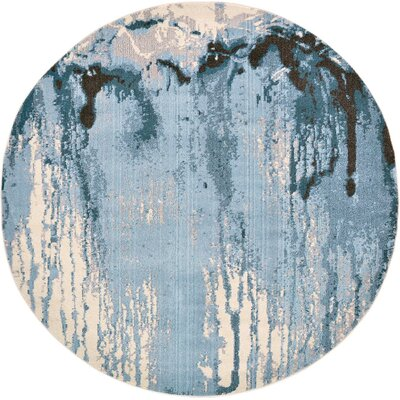 Fujii Light Blue Area Rug Rug Size: 8 x 11