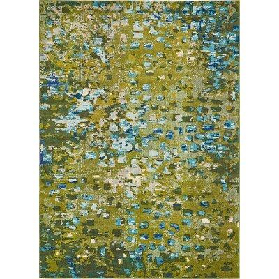 Fujii Green Area Rug Rug Size: 106 x 165