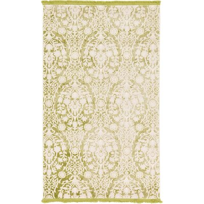 Patenaude Light Green Area Rug Rug Size: 5 x 8