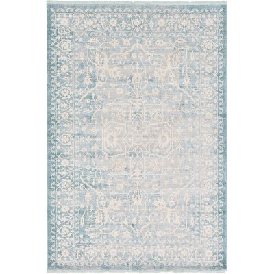 Wilton Light Blue Area Rug Rug Size: 33 x 53