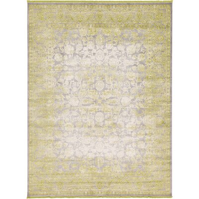 Bryant Oriental Light Green Area Rug Rug Size: Round 6