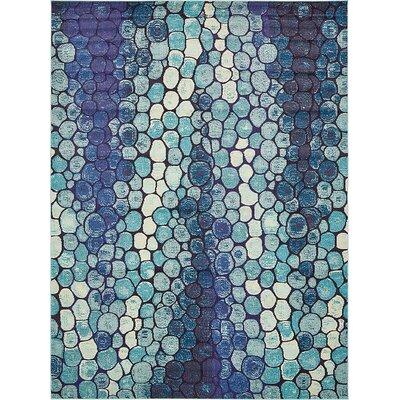 Fujii Blue Area Rug Rug Size: 33 x 53
