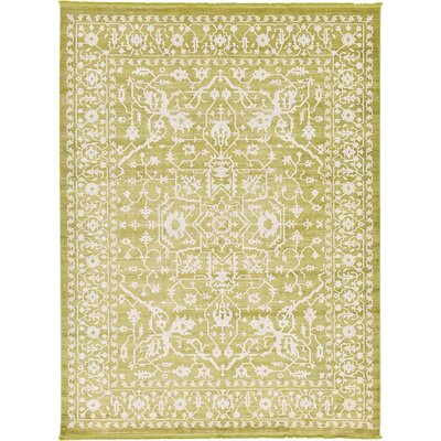 Bryant Tibetan Light Green Area Rug Rug Size: Round 6