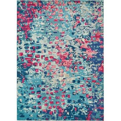 Fujii Blue Area Rug Rug Size: 106 x 165