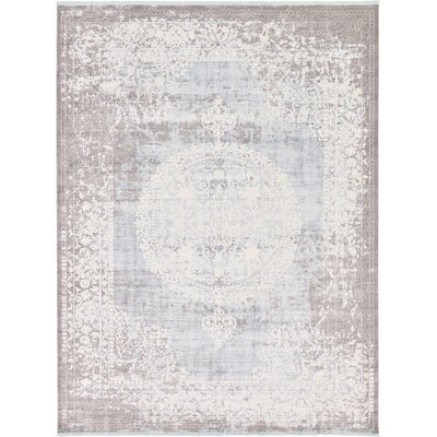 Wilton Light Blue Area Rug Rug Size: 4 x 6