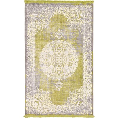 Bryant Light Green Area Rug Rug Size: 33 x 53