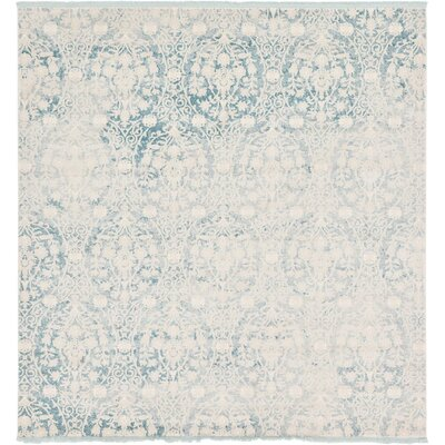 Patenaude Light Blue Area Rug Rug Size: Rectangle 9 x 12