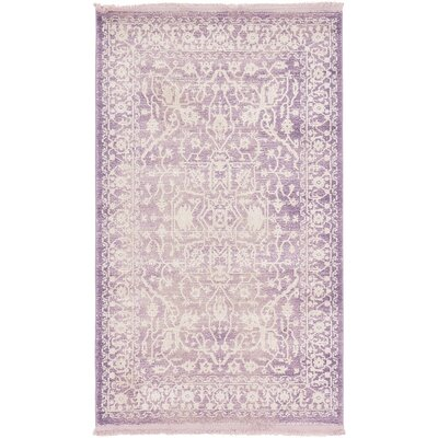 Vamyr Purple /Ivory Area Rug Rug Size: Square 8