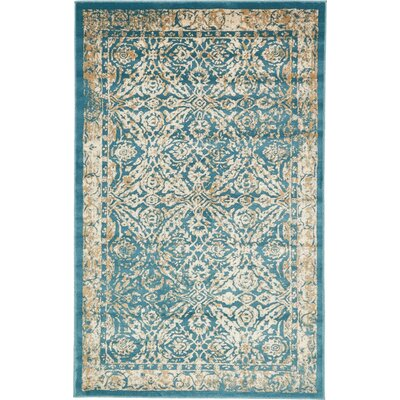Annin Teal Area Rug Rug Size: Rectangle 7 x 10