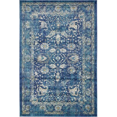 Jae Navy Blue Indoor Area Rug Rug Size: Rectangle 6 x 9