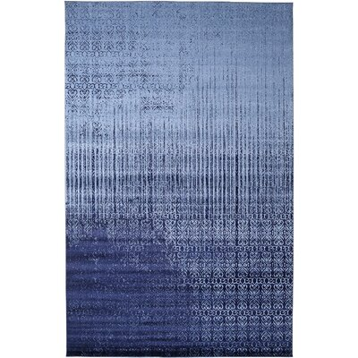 Kadar Blue Area Rug Rug Size: Round 3