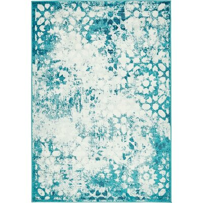 Brandt Turquoise Area Rug Rug Size: Rectangle 7 x 10