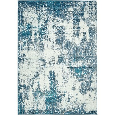 Ford Blue Area Rug Rug Size: Runner 2 x 13