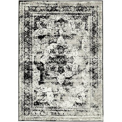 Brandt Black Area Rug Rug Size: Rectangle 9 x 12