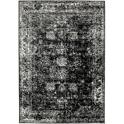 Ford Black Area Rug Rug Size: 9 x 12