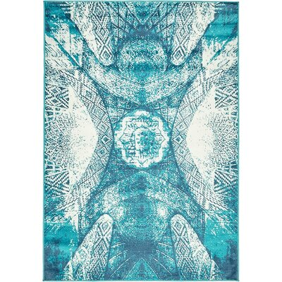 Ford Turquoise Area Rug Rug Size: Rectangle 9 x 12