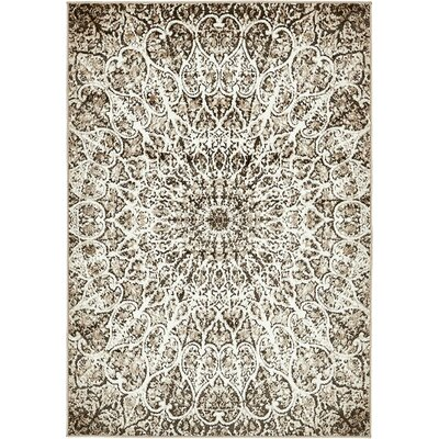 Keswick Brown Area Rug Rug Size: 4 x 6